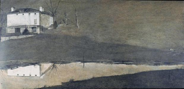 Wyeth, Brown Swiss, tempera, 1957  Image: Artstor